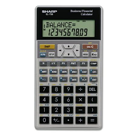 Sharp El 738C Financial Calculator  10 Digit Lcd