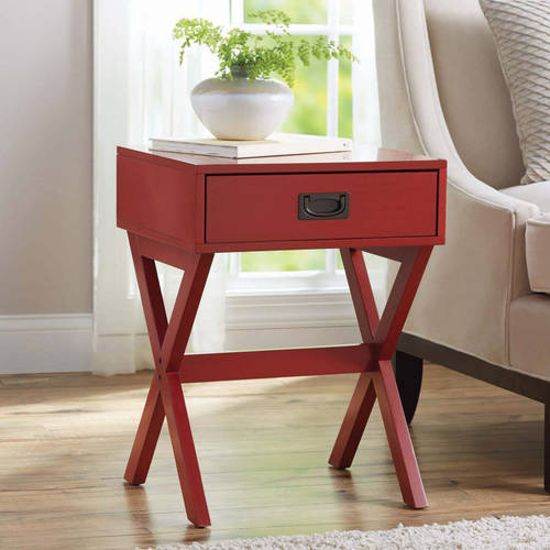 Better Homes & Gardens X-Leg Accent Table with Drawer, Multiple Colors by L. Powell Acquisition Corp.