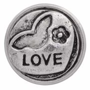 Charm-Nugz Snap On-Natures Love-Silver