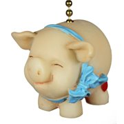 Whimsical Pig Piggy Piggie Kitchen Ceiling Fan Light Pull