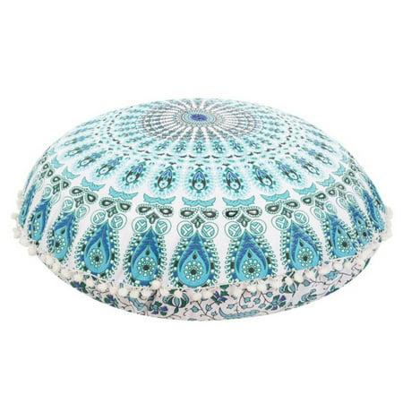 Large Round Mandala Meditation Floor Pillows Indian Tapestry Bohemian Pouf ()