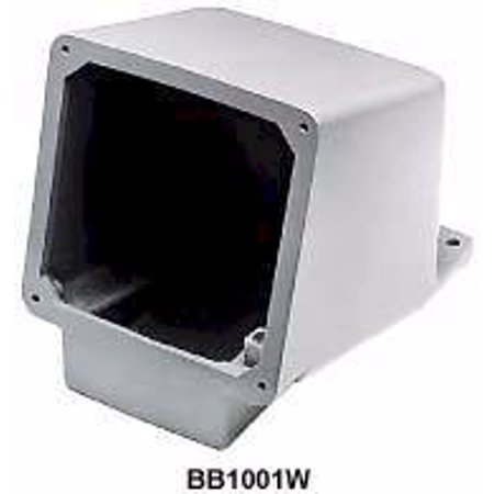 Hubbell Wiring Systems BB1001W Cast Aluminum Ship-to-Shore Back Box for Shore Power Inlet, 15 Degrees Angle, 1-1/2