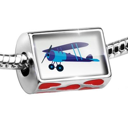 - Bead Kids Design Blue Airplane Charm Fits All European Bracelets