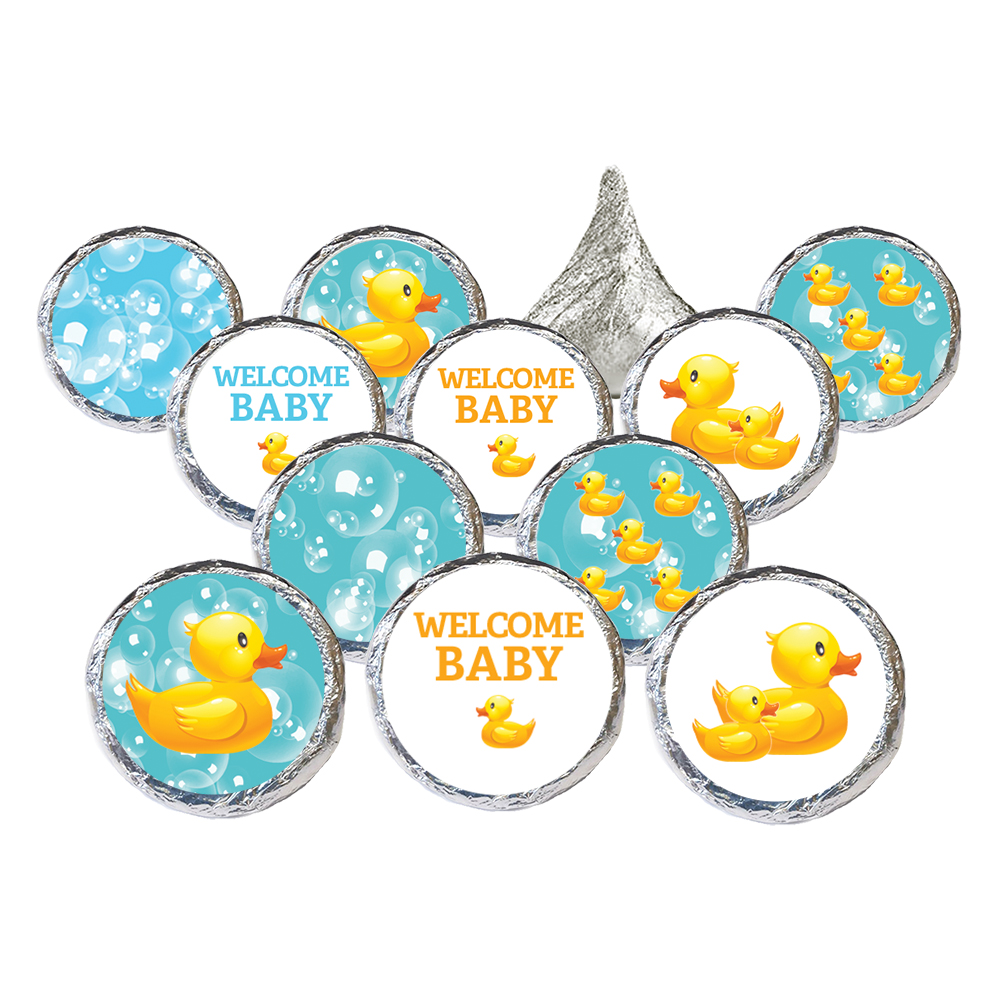 Rubber Ducky Baby Shower Stickers 324ct - Rubber Duck Bubble Bath Party Favors Rubber Duckies Baby Shower Supplies Decorations - 324 Count Stickers