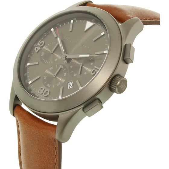 65c4595fde90 Michael Kors - Men s Gareth Brown Leather Chronograph Watch MK8471 ...