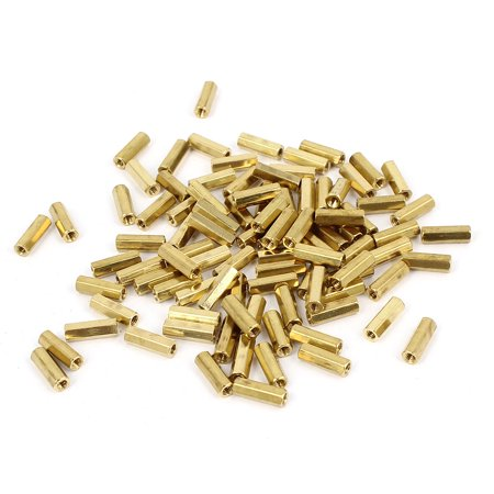 Net Nuts - 100 Pcs M2 9mm Hexagonal Net Nut Female Brass Standoff Spacer for CCTV Camera