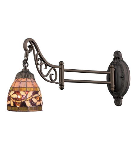 Wall Sconces 1 Light With Tiffany Bronze Finish Medium Base 24 inch 60 Watts - World of Lamp