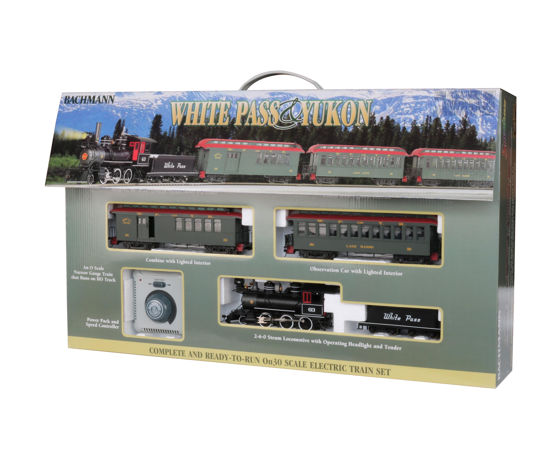 Bachmann Trains WHITE PASS & YUKON PASSENGER SET Ready to Run Electric Train Set On30 Scale by Bachmann Trains