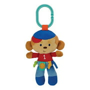 Label Loveys On-The-Go Stroller Toys, Monkey Sports