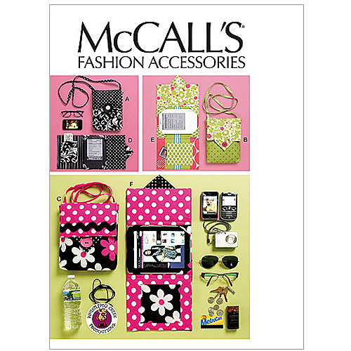 McCall's Pattern Electronic Device Carrying Case in 2 Sizes and E-Reader Cover, 1 Size Only