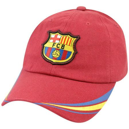 Barcelona FCB Shield Soccer Barca La Liga Espana Spain Futbol Soccer Hat Cap