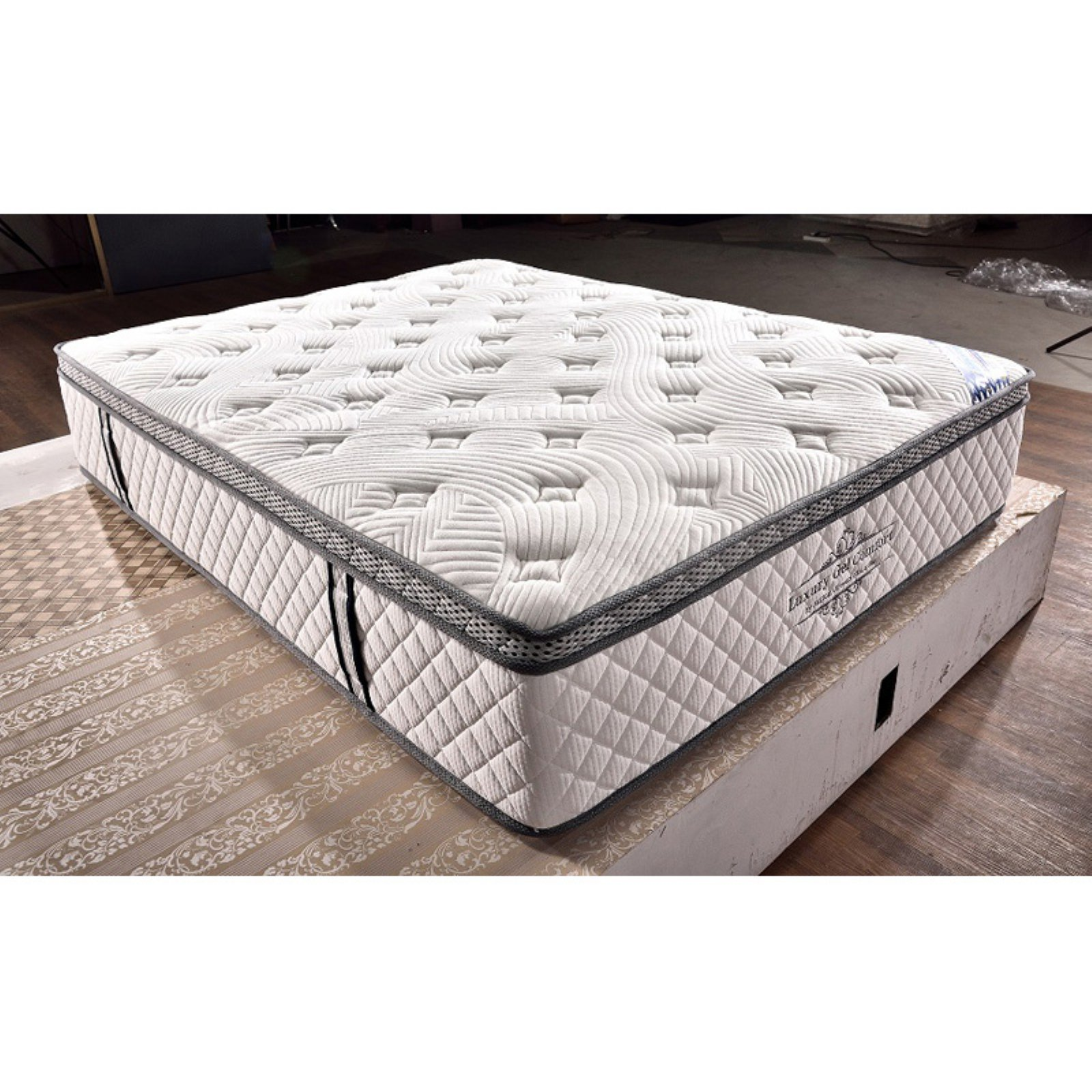Milton Greens Stars Luxury 15 in. Gel Memory Foam and Pocketed Coil Hybrid Mattress