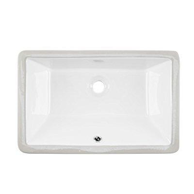 1181cbw 18x11 white rectangular porcelain undermount bathroom sink