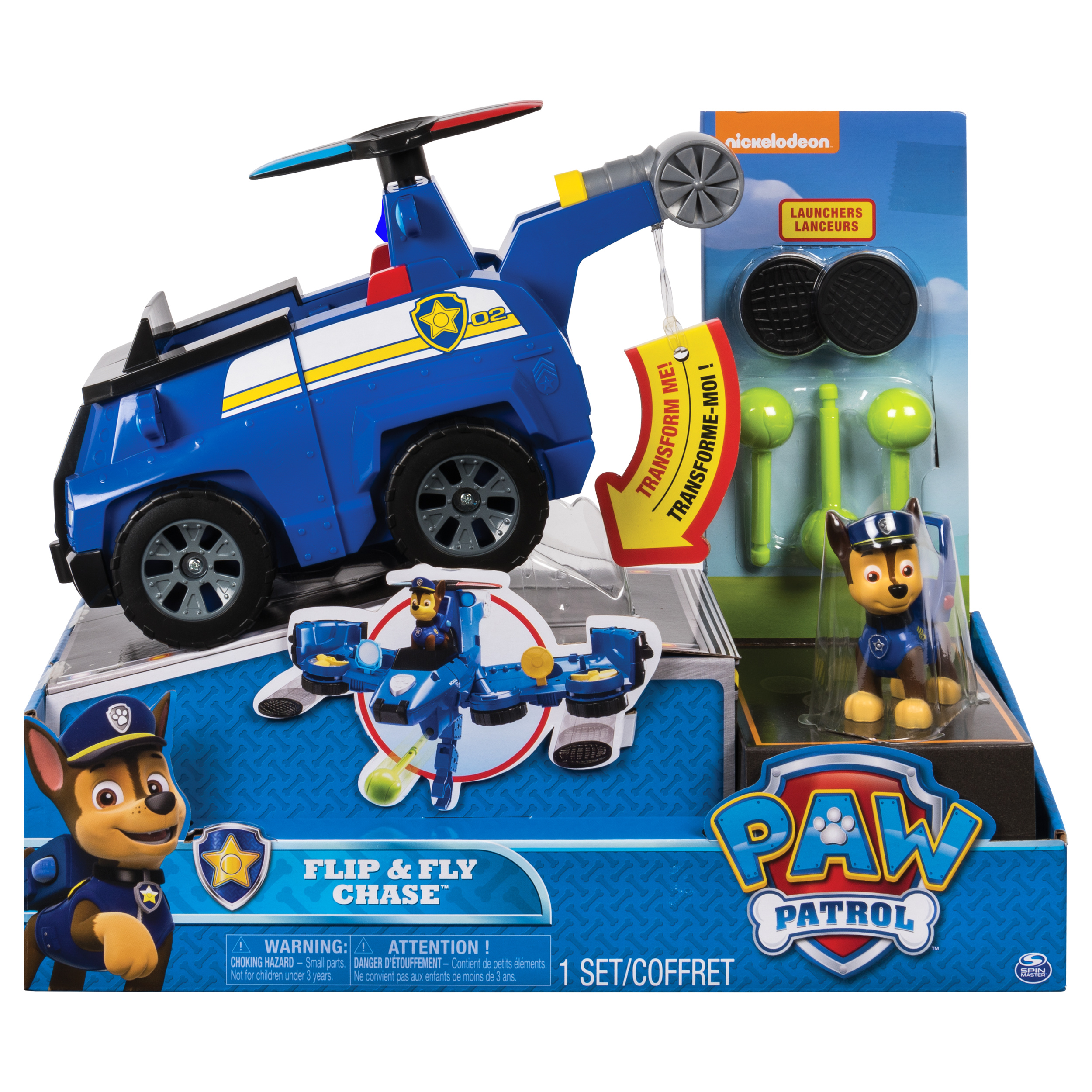 Paw Patrol Flip Fly Chase 2 In 1 Transforming Vehicle  # Fly Meubles Audio Bois