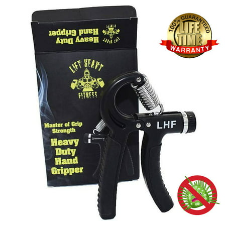 Lift Heavy Fitness Heavy Duty Hand Grippers -Hand Gripper Is Anti-microbial and Guaranteed For Life Adjustable Hand Grips  Forearm Exerciser Hand Grip Strengthener Is Adjustable from 66- 176 LBS ()