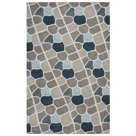 Gatney Rugs Cyclone Area Rug Vn9509 Multi Lines Plates