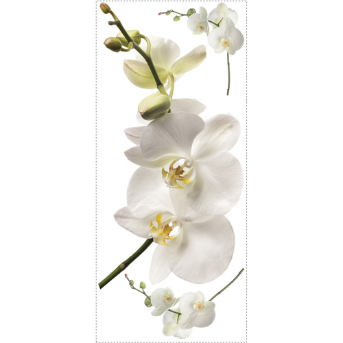 White Orchid Peel and Stick Wall Decals