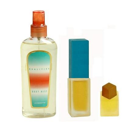 REALITIES Liz Claiborne .33 EDT Women Spray Perfume + 1/8 oz + 4.2 Mist Gift (Edt Perfume Gift Set)