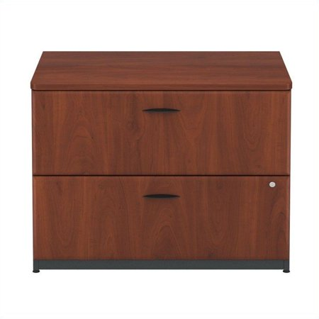 Series A 36W Lateral File Cabinet in Hansen Cherry and Galaxy - image 3 de 4