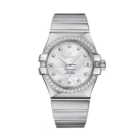 Omega Constellation Steel & Diamond Automatic Womens Watch 123.15.35.20.52.001