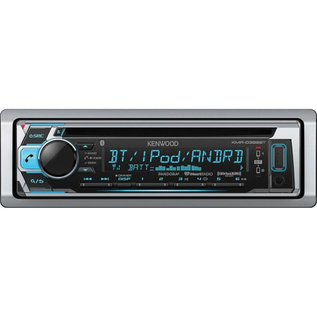 Kenwood KMR-D368BT Single-DIN In-Dash Marine CD Receiver with Bluetooth and SiriusXM