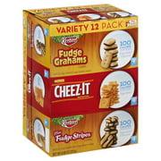 Keebler 100 Calorie Pack Fudge Grahams, Cheez-It, & Fudge Stripe Cookies Variety Pack, 8.88 Oz., 12 Count