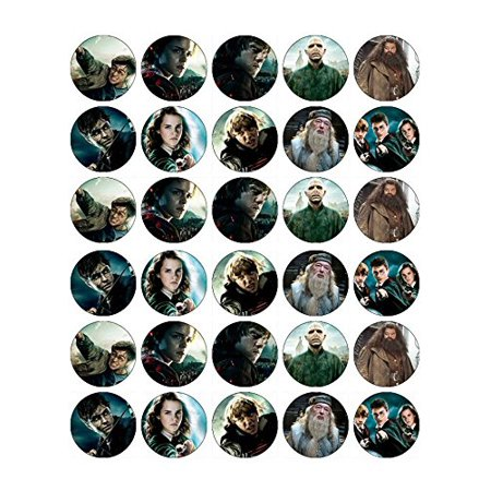 30 Harry Potter Edible Frosting Image Cupcake Toppers* - Frosting Cupcakes For Halloween