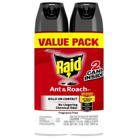 (Raid Ant & Roach Killer 26, Fragrance Free, 17.5 oz (2 ct))