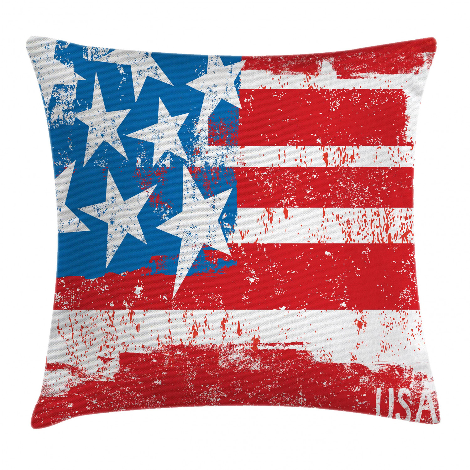 American Flag Decor Throw Pillow Cushion Cover Culture Flag Solidarity Of Usa Stars Inspiration Retro Royalty Artwork Decorative Square Accent Pillow Case 24 X 24 Inches Coral White By Ambesonne Walmart Com