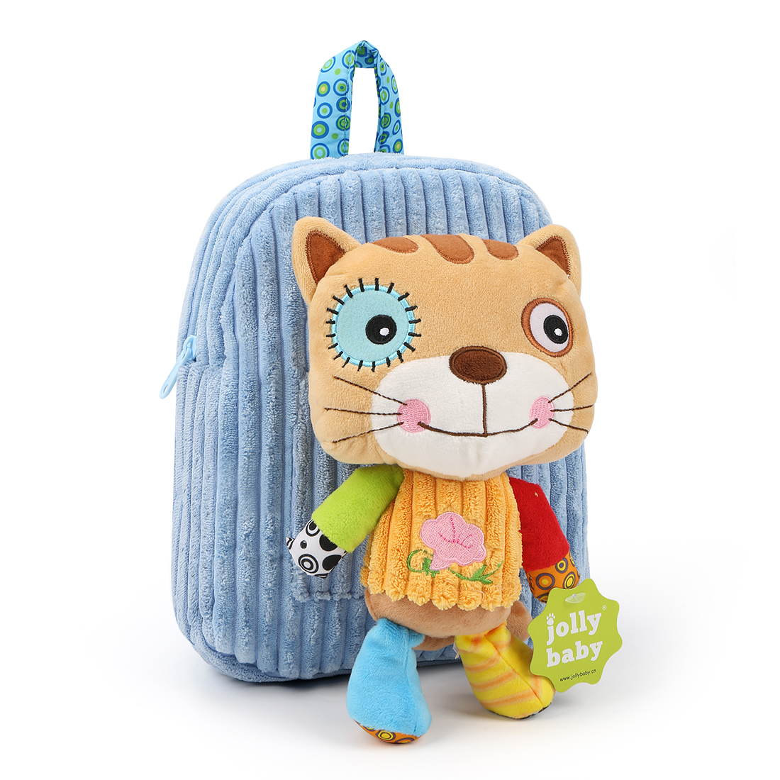 Cartoon Animal Style Toy Plush School Bag Plush Backpack Shoulder Baby Bagfor Kids Children 2-5 Years Old(Blue)Blue