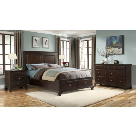 Picket House Furnishings Brinley Cherry Bedroom Set with Storage Bed, Multiple Sizes and Configurations
