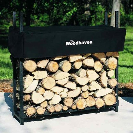 Face Cord Firewood - 3' Firewood Rack - 1/8 Cord Capacity (Black) (3'H x 3'W x 10