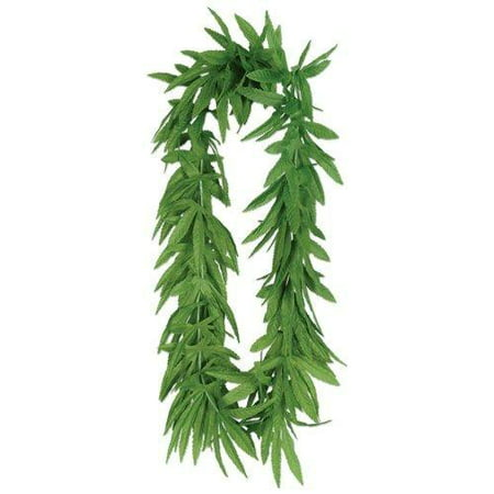 12 Tropical Fern Green Leaf Leis Hawaiian Luau Party (Dark Light Party)