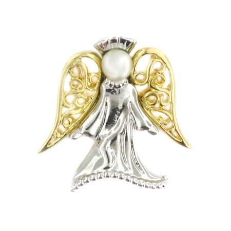 - Angel with Pearl Religious Spiritual Jewelry Brooch Style Lapel Pin 1