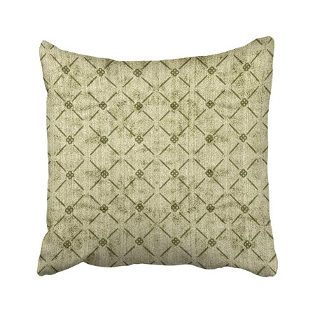 WOPOP Contrasting Sage Green Diamond Pattern Faux Terryc Decorative Pillowcase 20x20 inch (Sage Green Decorative Pillows)