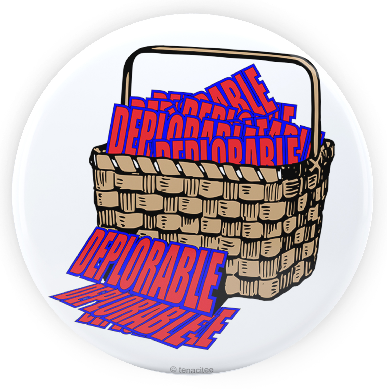 Tenacitee Basket of Deplorables Pinback Button, 2.25""