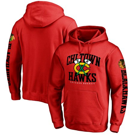 Chicago Blackhawks Hometown Collection Pullover Hoodie - Red