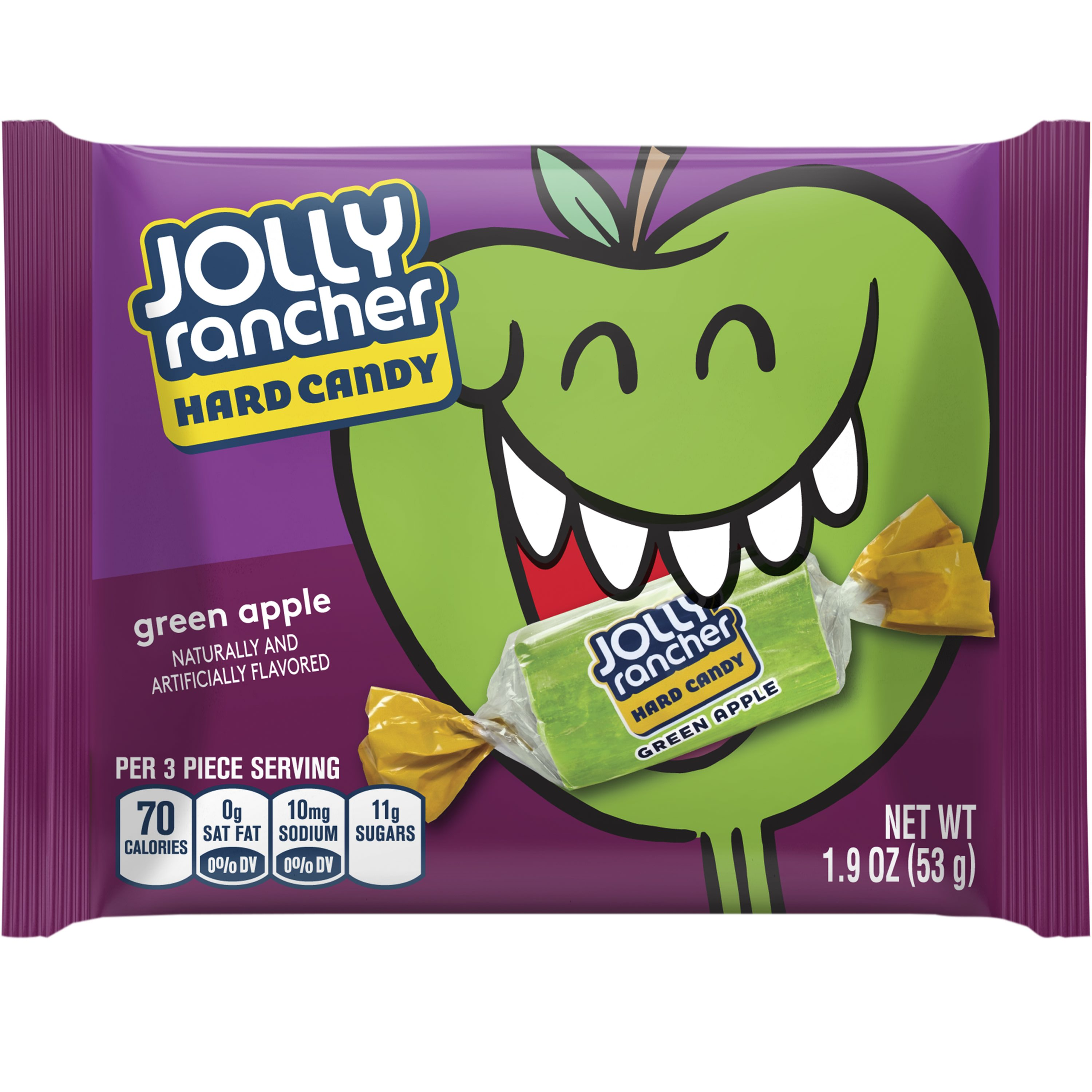 (6 Pack) JOLLY RANCHER Green Apple Flavored Hard Candy, 1.9 oz