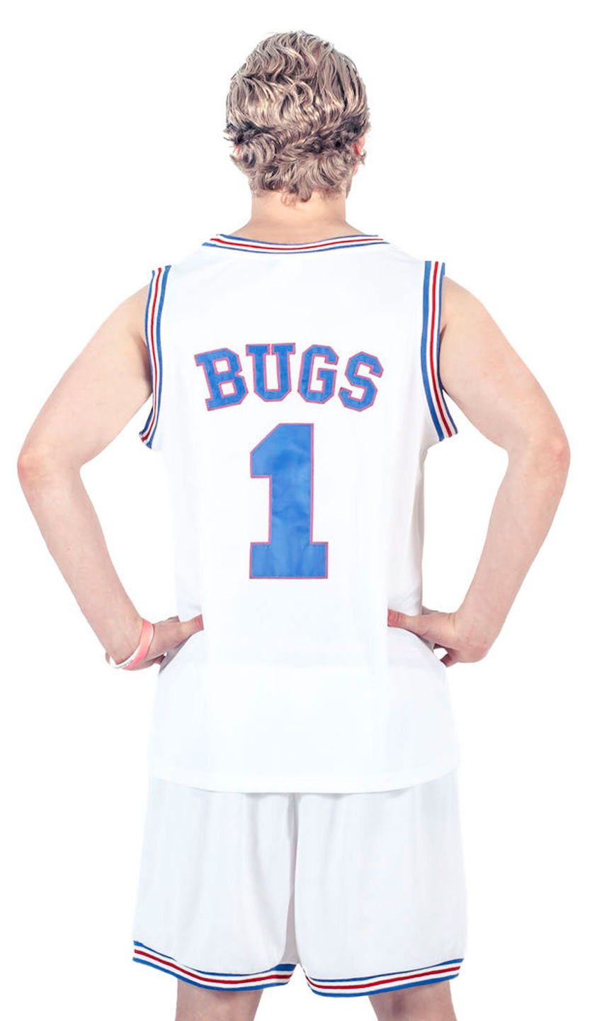 Bugs Bunny #1 Tune Squad Space Jam Basketball Jersey