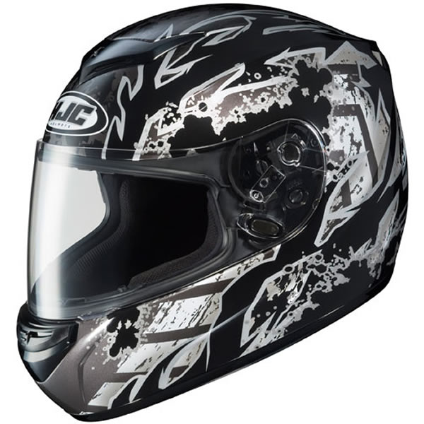 HJC CS-R2 Skarr Motorcycle Helmet Black 2XL