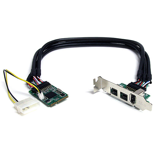 StarTech 3-Port 2b 1a 1394 Mini PCI Express FireWire Card Adapter