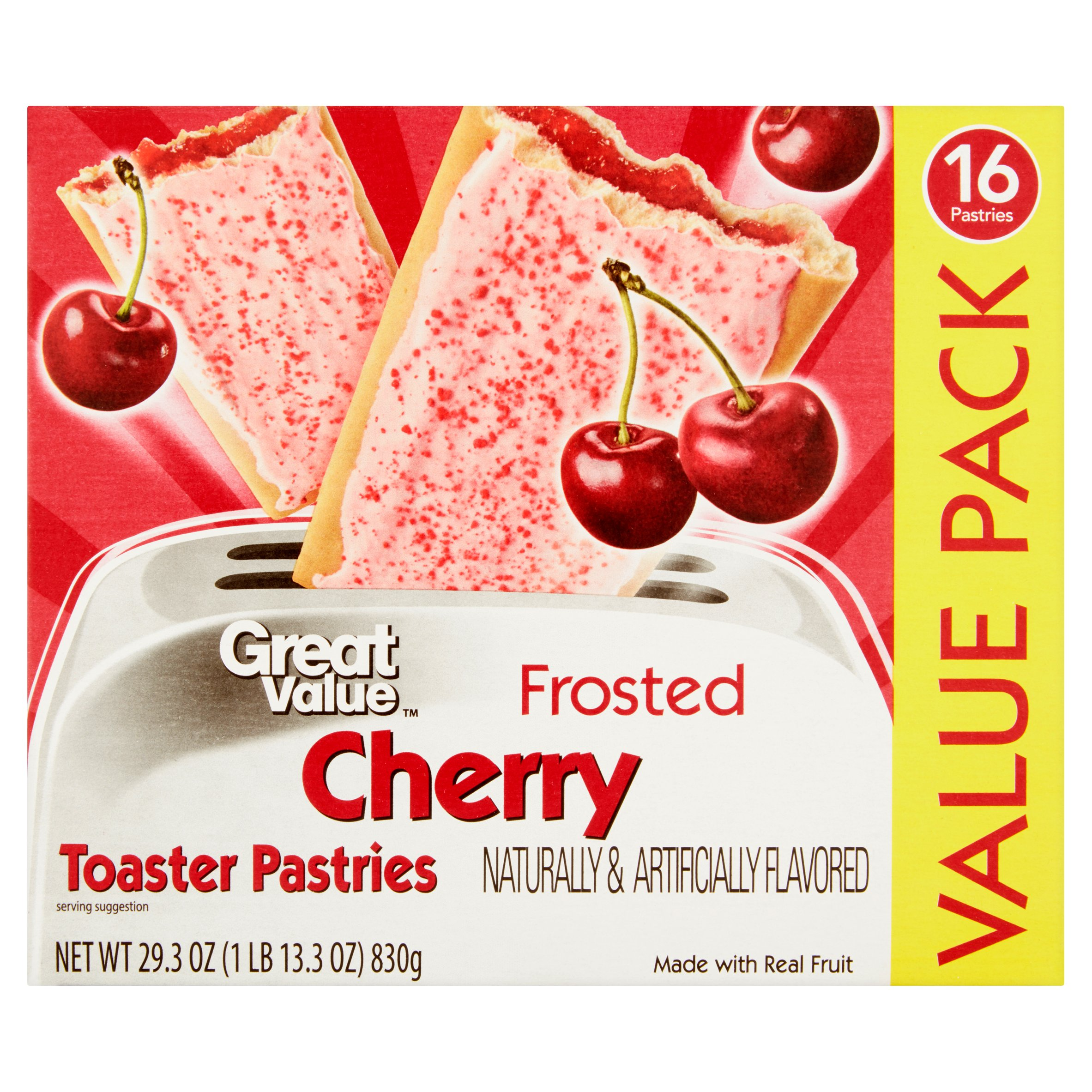 Great Value Frosted Cherry Toaster Pastries, 16 ct by Wal-Mart Stores, Inc.