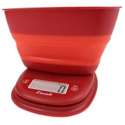 Escali Pop Digital Collapsible Bowl Kitchen Scale Poppy Red