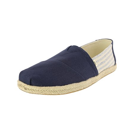 Toms Men's Classic Rope Sole Navy Ivy League Stripes Ankle-High Fabric Slip-On Shoes - 11.5M](Poison Ivy Boots)