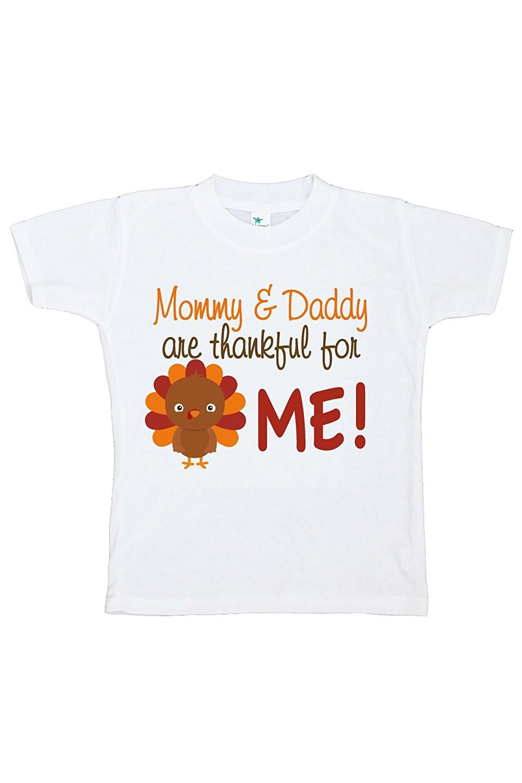 Custom Party Shop Baby Boy's Thankful For Me Thanksgiving Tshirt - Large (14-16) T-shirt