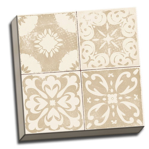 Patchwork Tiles - Canvas -Distressed Brown 3