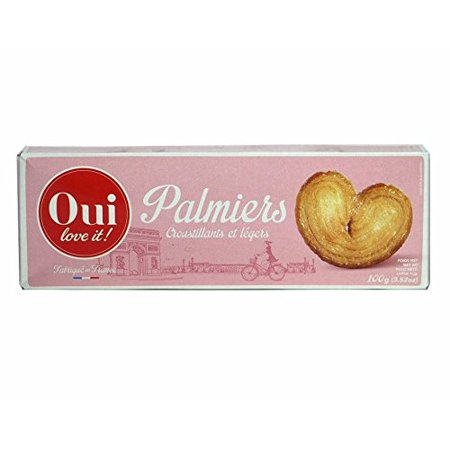 Oui Love It French Puff Pastry Cookies Palmiers 100g Box 3 Pack