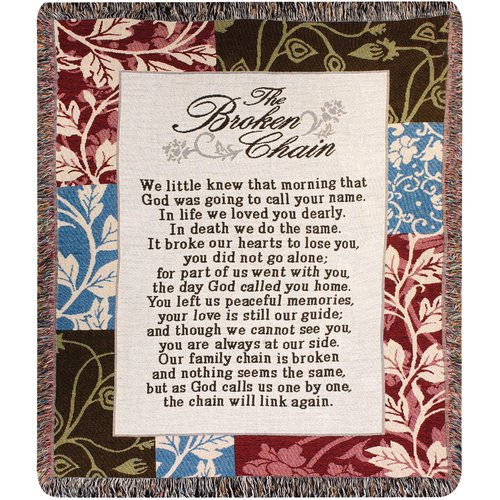 Manual Woodworkers & Weavers Broken Chain Tapestry Cotton Throw
