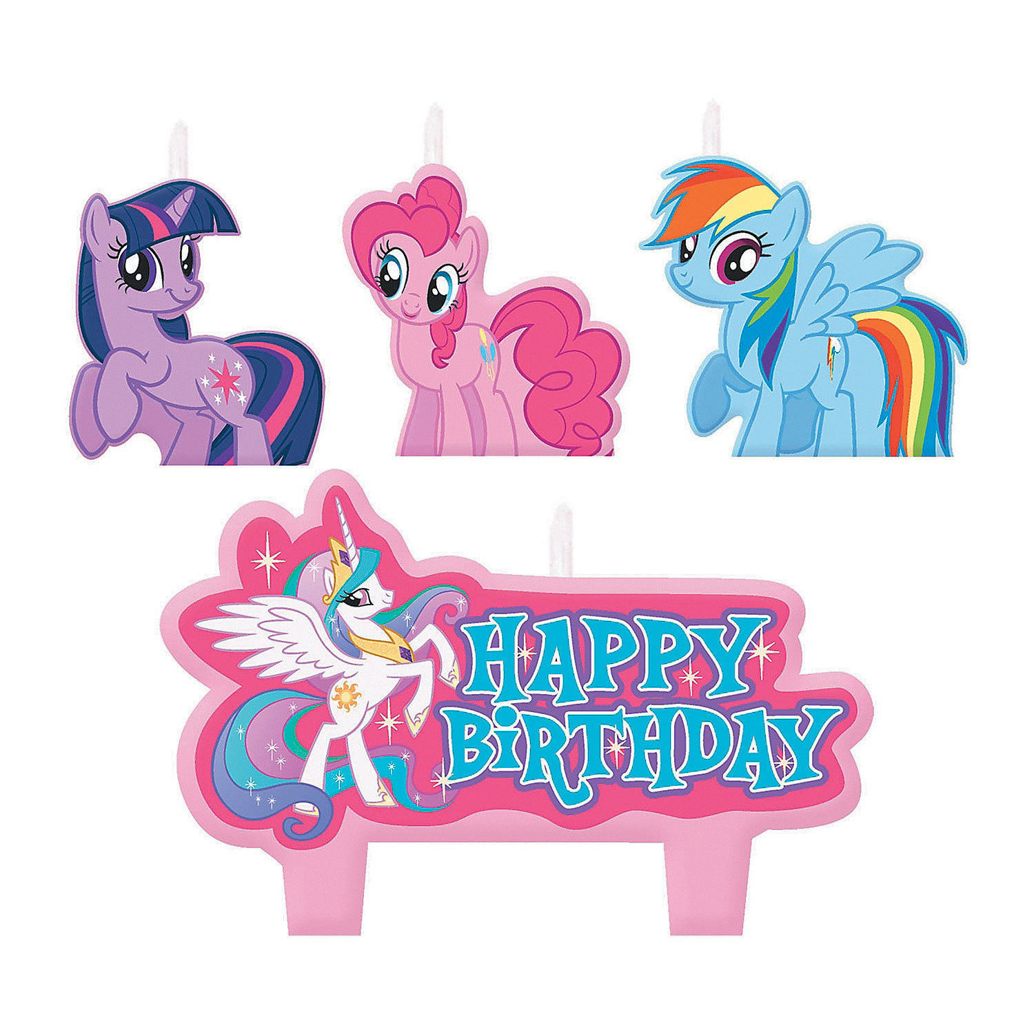 IN-13612146 My Little Pony Friendship Is Magic Birthday Candles 2PK