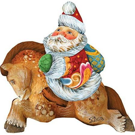 GDeBrekht 63123 Santa On Pony Figurine Ornament